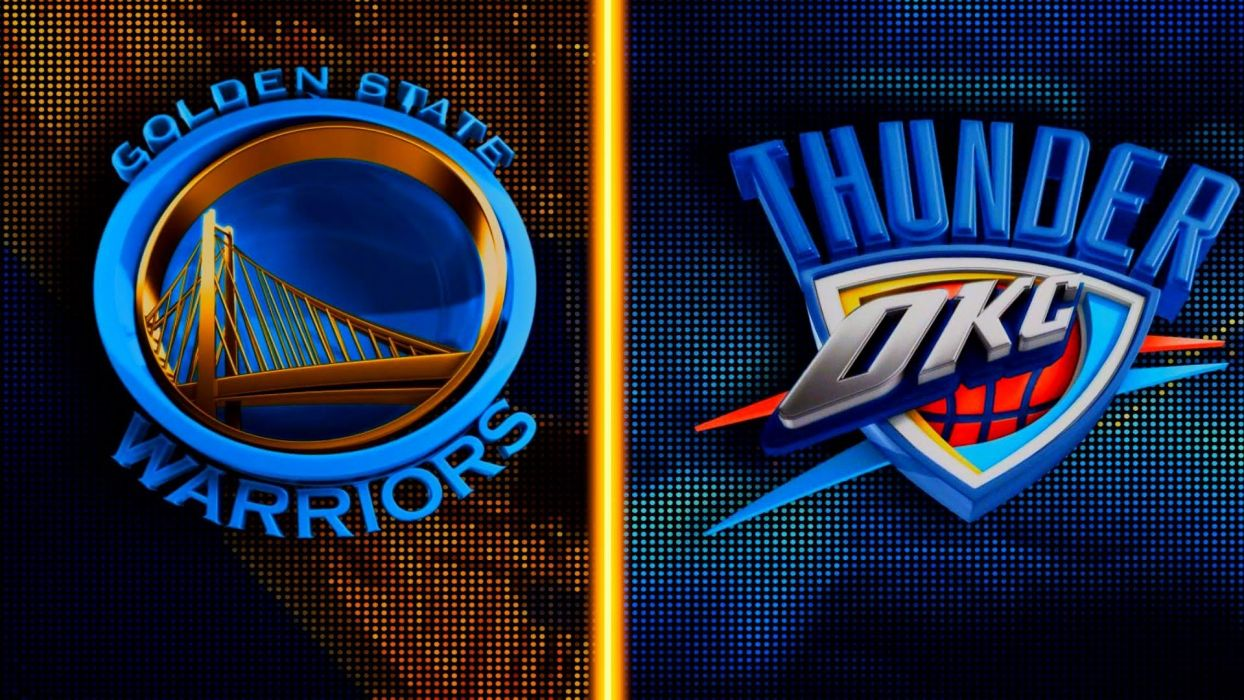 Oklahoma City Thunder Nba Basketball Poster Golden State Warriors