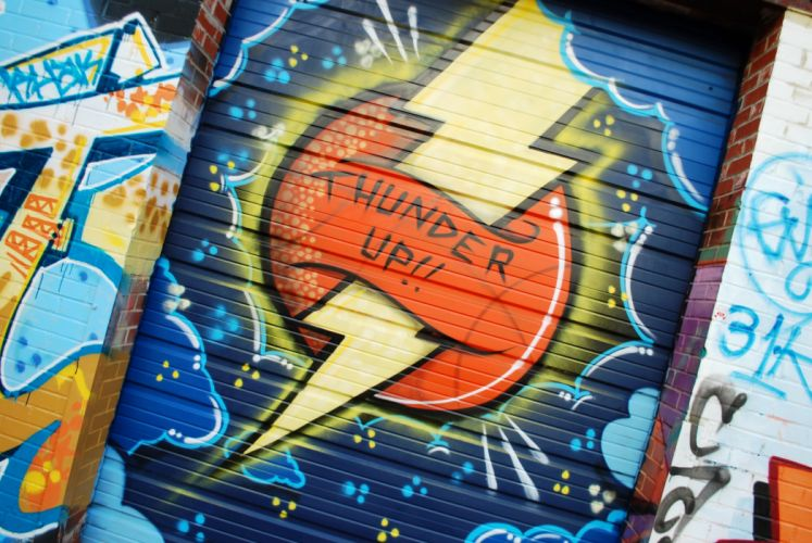 OKLAHOMA CITY THUNDER nba basketball poster GRAFFITI wallpaper
