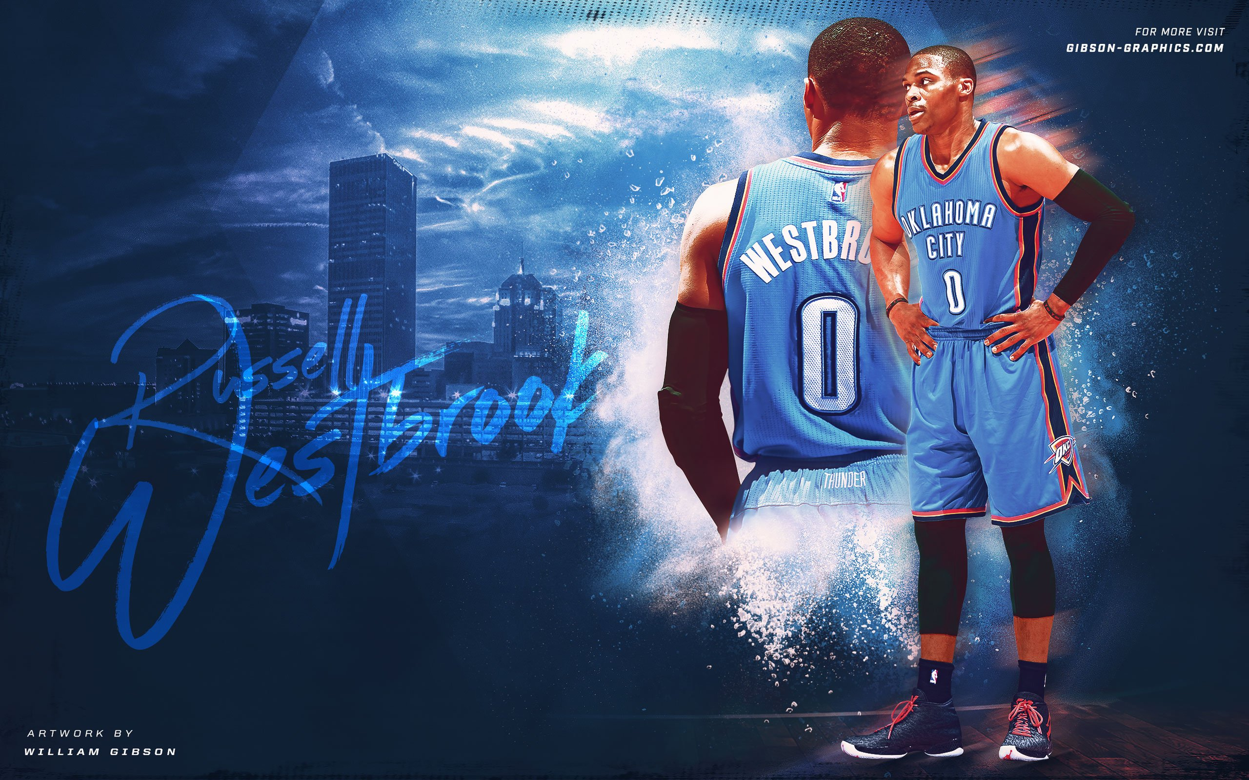 oklahoma city thunder nba basketball poster wallpaper