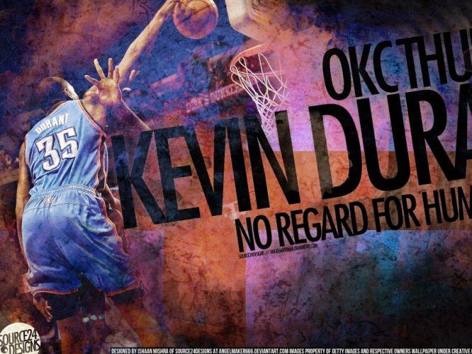 OKLAHOMA CITY THUNDER okc nba basketball poster wallpaper