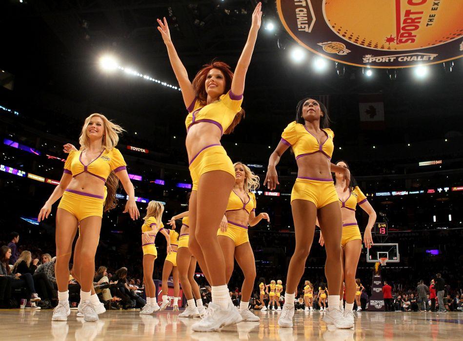 LOS ANGELES LAKERS nba basketball sexy babe cheerleader wallpaper