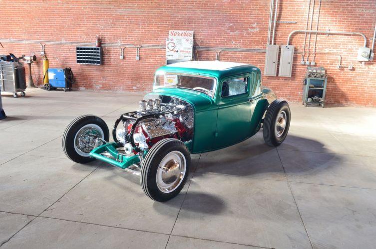 1932 Ford Coupe Five Window Hot Rod Hotrod Custom Kustom Old School USA -12 wallpaper