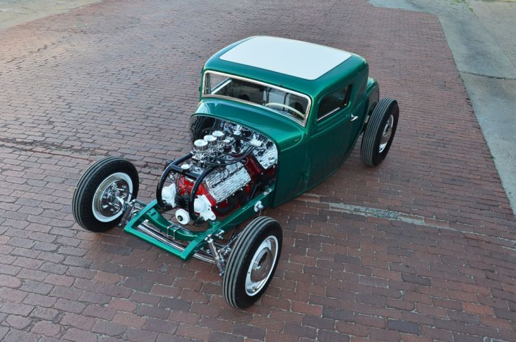 1932 Ford Coupe Five Window Hot Rod Hotrod Custom Kustom Old School USA -15 wallpaper