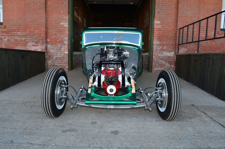 1932 Ford Coupe Five Window Hot Rod Hotrod Custom Kustom Old School USA -19 wallpaper