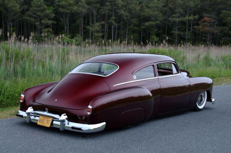 1951 Chevrolet Chevy Fleetline Custom Old School Kustom Low USA -02 wallpaper