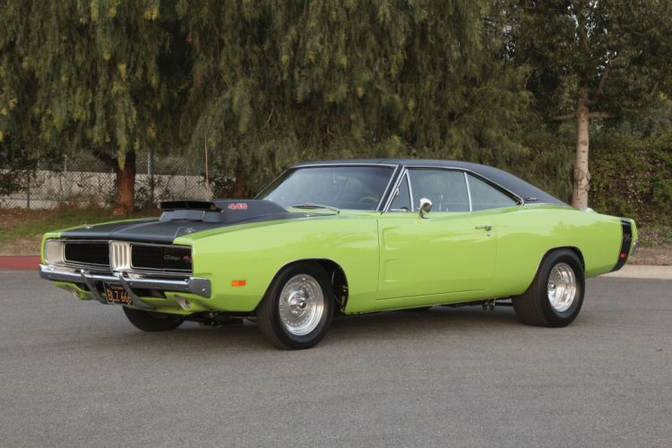 1969 Dodge Charger RT Super Street Drag Muscle USA -01 wallpaper