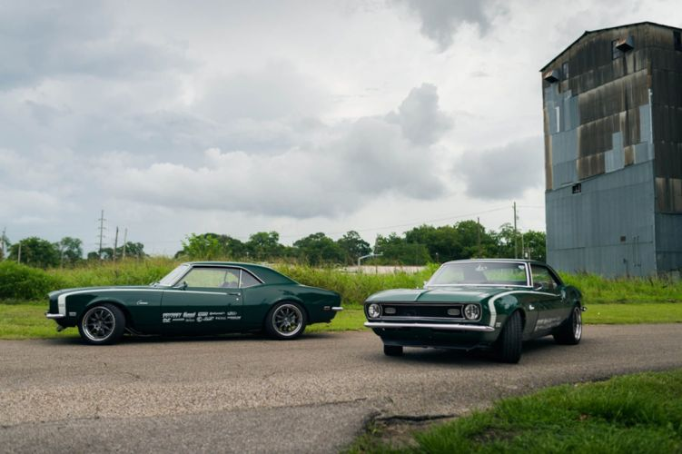1968 Camaro chevy Twins cars modified green wallpaper