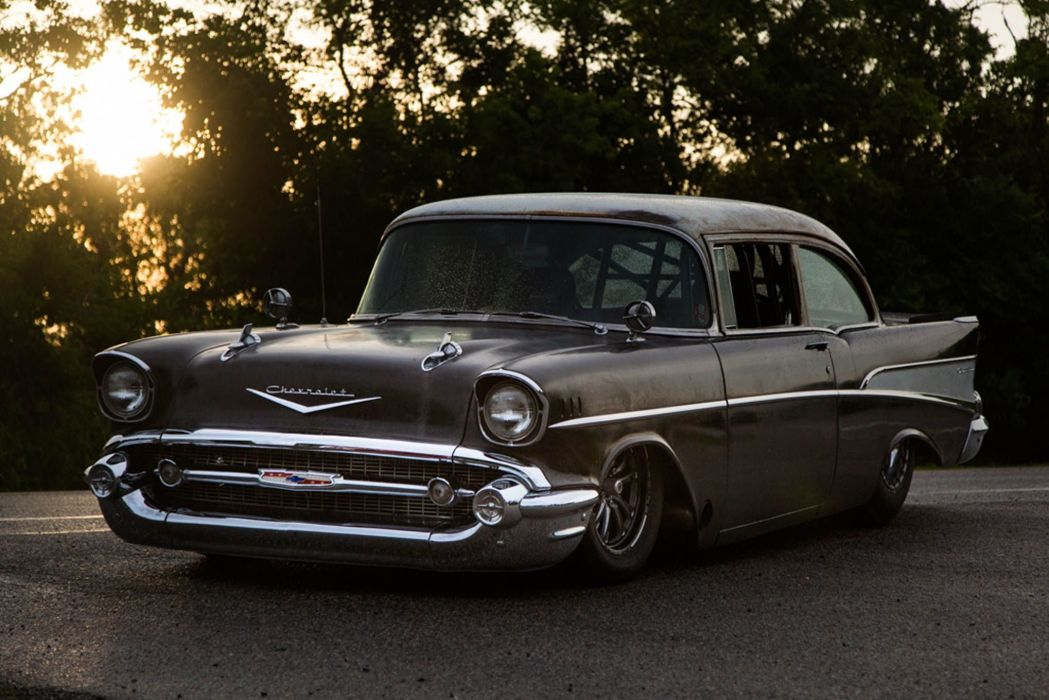 1957 Chevy cars classic modified wallpaper