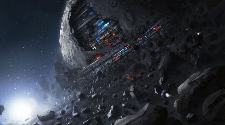 SCI-FI futuristic science fiction art artistic original wallpaper