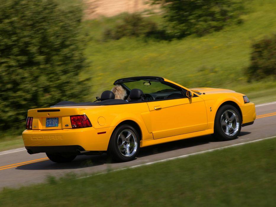 Ford Mustang SVT Cobra Convertible cars 2002 wallpaper
