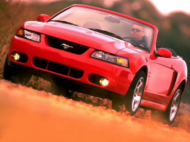 Ford Mustang SVT Cobra Convertible cars 2002 wallpaper