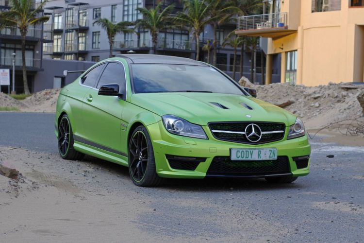 Mercedes Benz C63 green AMG Coupe Legacy Edition cars 2016 wallpaper