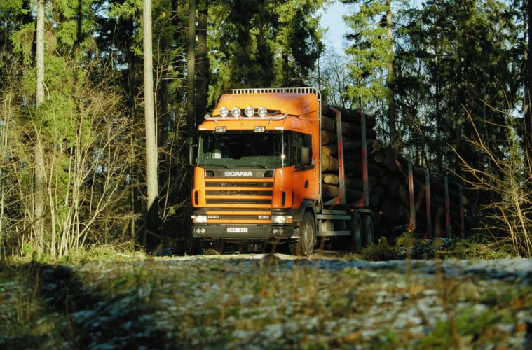2004 Scania R144G 530 6x4 Timber semi tractor wallpaper