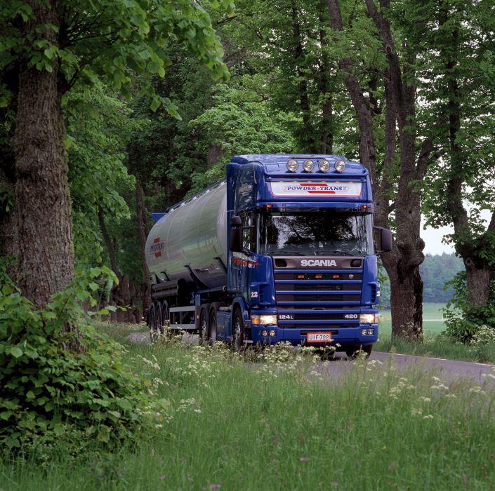 2004 Scania R124L 420 6x2 semi tractor wallpaper