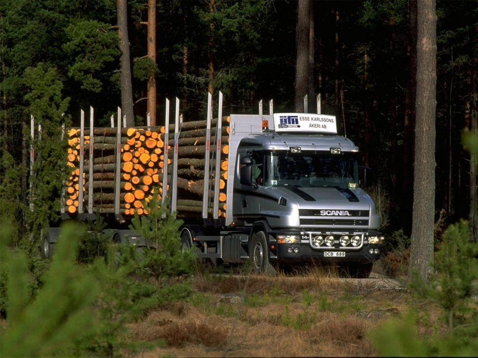1995 Scania T144G 460 6x4 Timber Truck semi tractor wallpaper