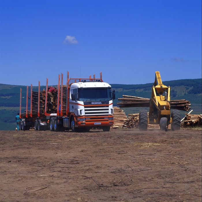 1995 Scania R144G 460 6x4 Timber Truck ZA-spec semi tractor wallpaper