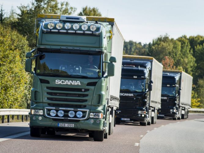 Scania semi tractor truck transport wallpaper