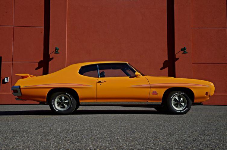 Orange 1970 Pontiac GTO cars coupe twin muscle wallpaper
