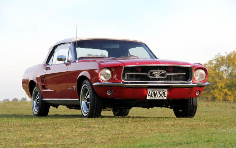 1967 Ford Mustang Convertible 76A muscle classic wallpaper
