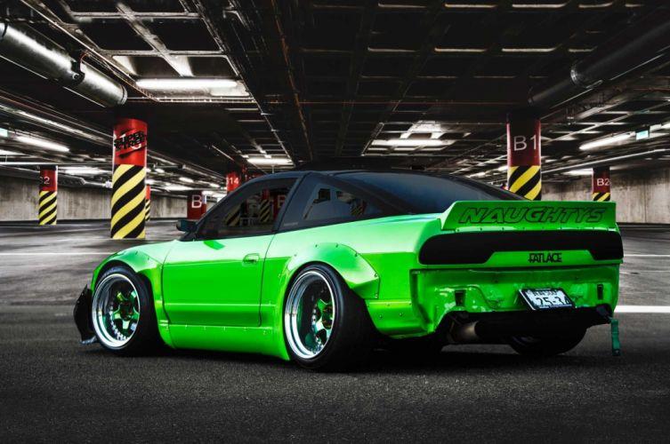 1992 nissan 180sx cars green modified wallpaper