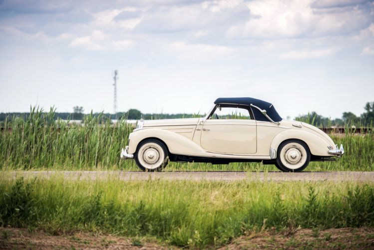 1951-55 Mercedes Benz 220 Cabriolet A W187 retro luxury wallpaper