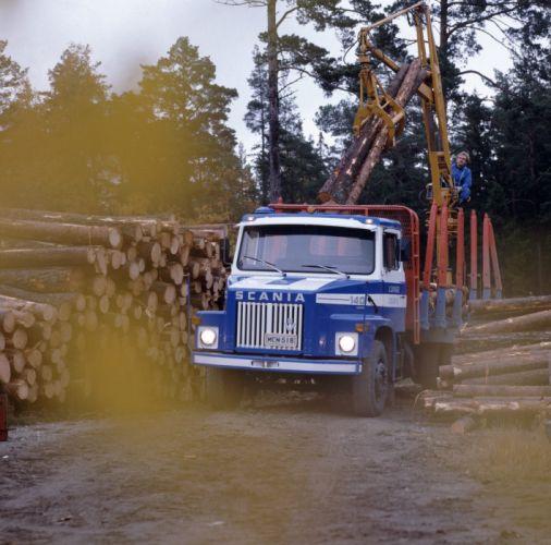 1972 Scania LS140S Timber Truck semi tractor classic wallpaper