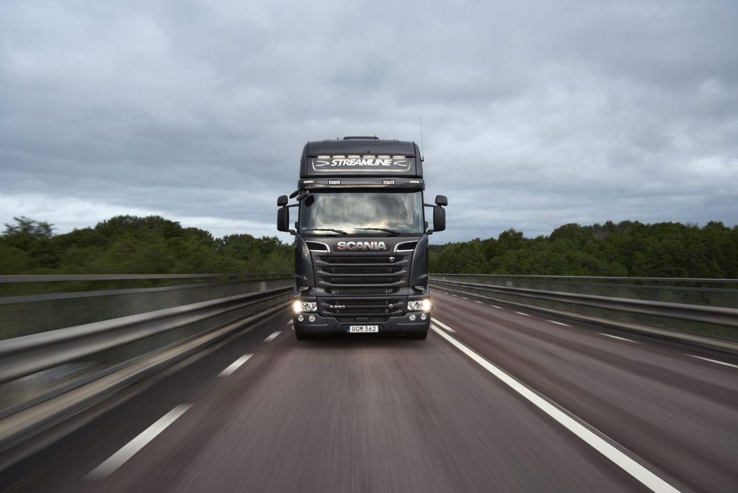 2016 Scania R520 Streamline Crown semi tractor wallpaper