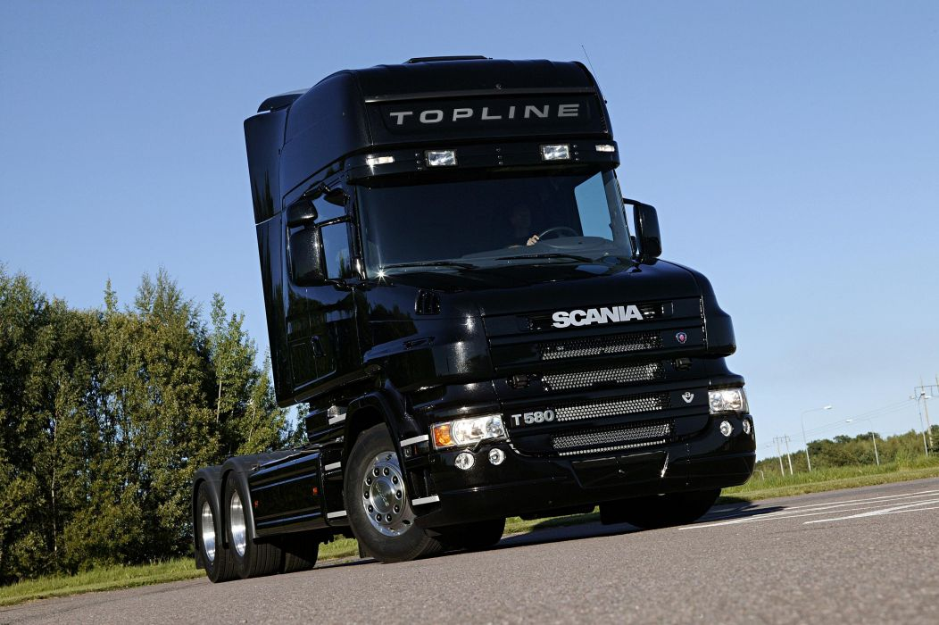 2005 Scania T580 6x4 Topline semi tractor wallpaper