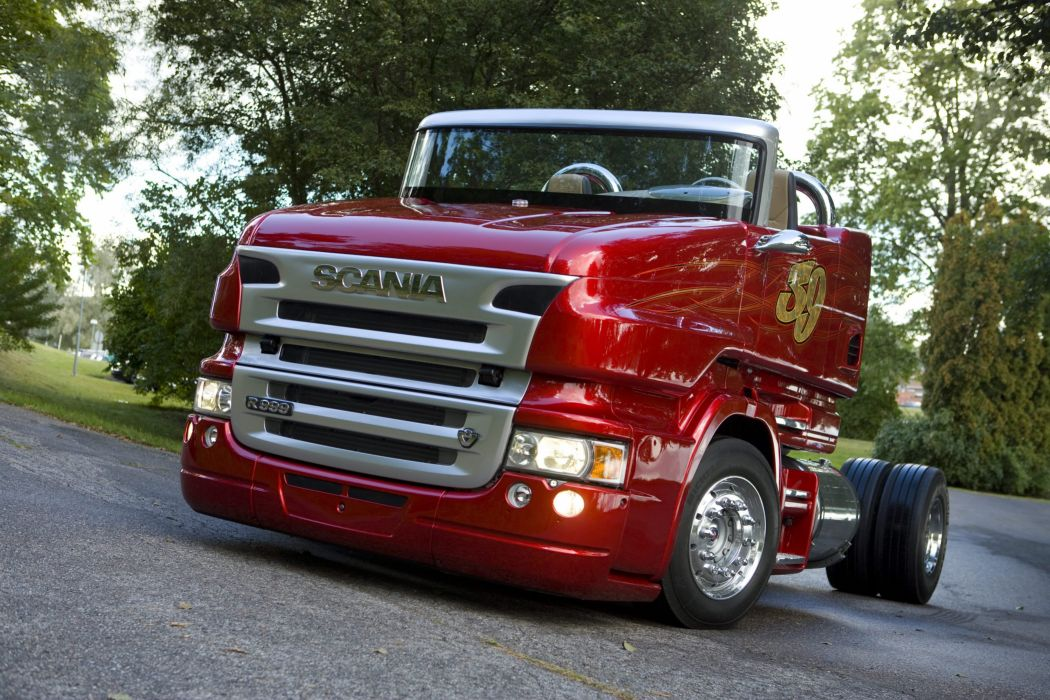 2008 Scania R999 V8 Red Pearl semi tractor v-8 custom race racing hot rod rods wallpaper