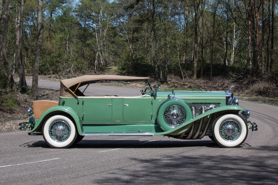 1931 Duesenberg Model-J 451-2468 Tourster LWB Derham luxury vintage retro wallpaper
