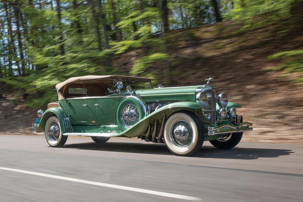 1931 Duesenberg Model-J 451-2468 Tourster LWB Derham luxury vintage retro wallpaper