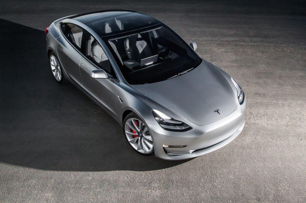 2018 Tesla Model-3 Prototype supercar electric wallpaper