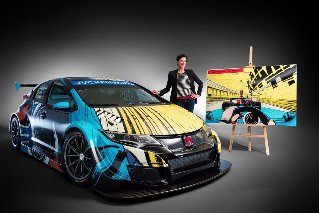 2016 Honda Civic WTCC Art Car Jean Graton tuning custom race racing wallpaper