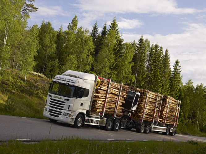 2010-13 Scania R730 6x4 Highline Timber Truck semi tractor wallpaper