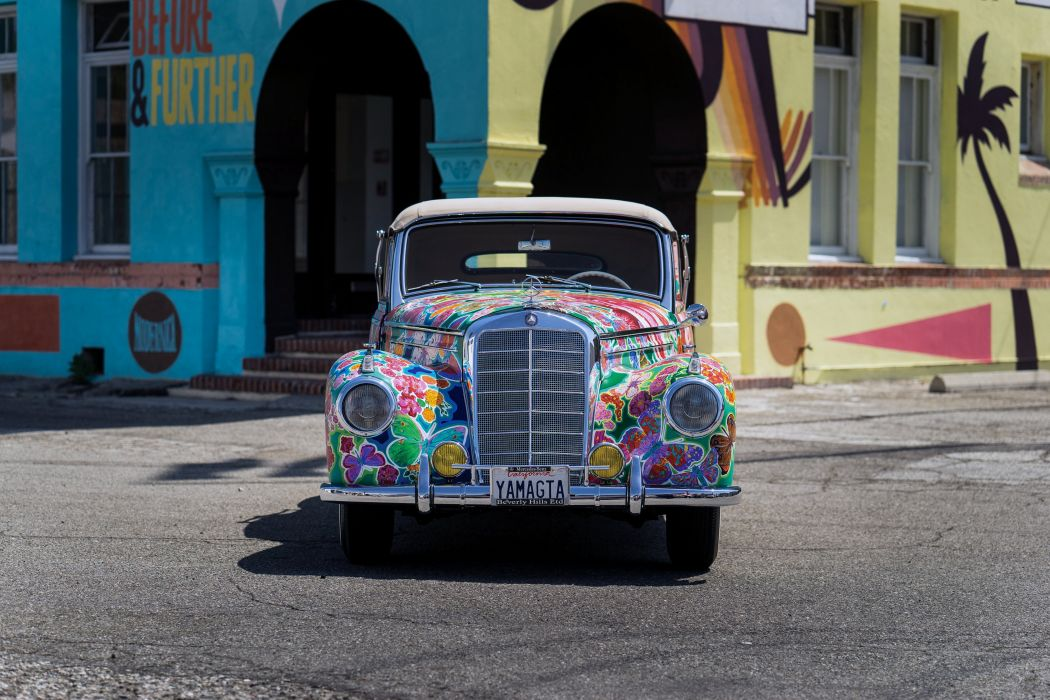1952 Mercedes Benz 220 Cabriolet A Earthly Paradise Art Car Hiro Yamagata W187 custom vintage wallpaper