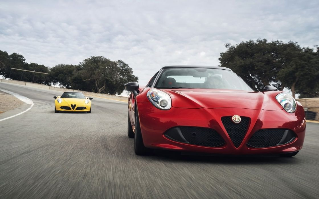 2016 Alfa Romeo 4-C Spider supercar wallpaper