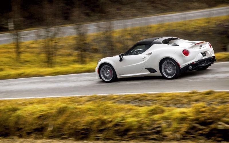 2016 Alfa Romeo 4-C Spider supercar wallpaper