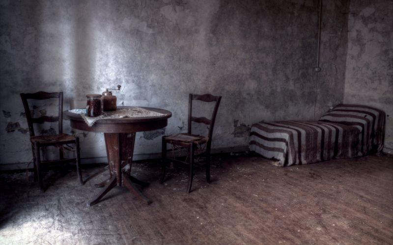 interior habitacion cama sillas mesa wallpaper