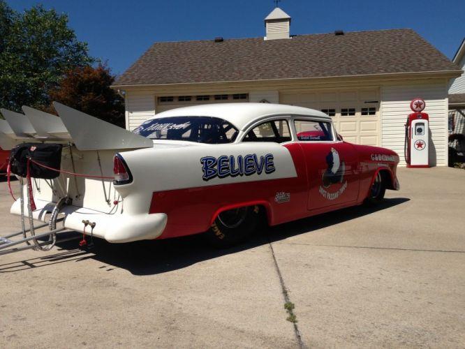 1955 Chevrolet 150 hot rod rods drag race racing custom wallpaper