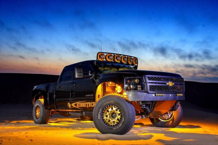 2011 Chevrolet Silverado 2500HD offroad 4x4 custom truck pickup wallpaper