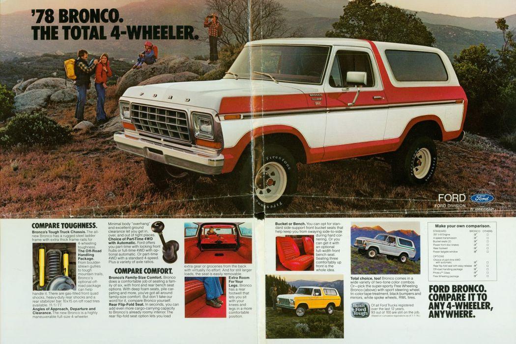 1966-16 FORD BRONCO offroad 4x4 custom truck suv wallpaper