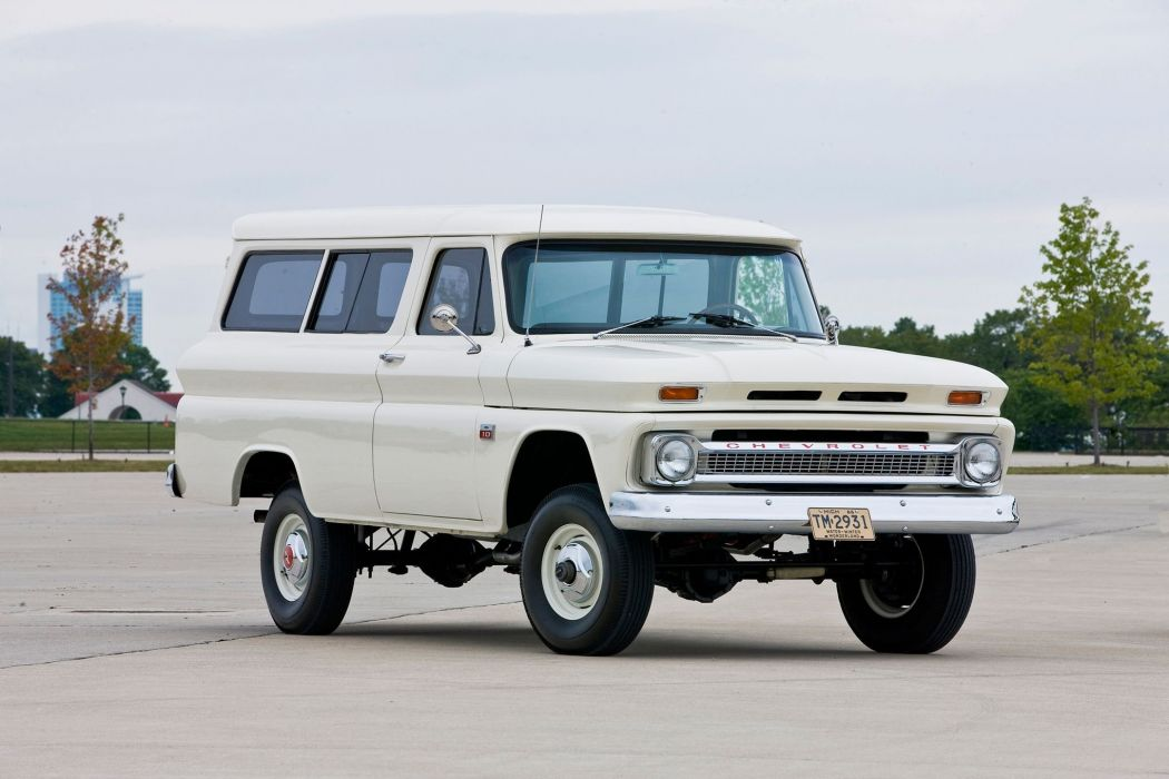 1960-66 CHEVROLET SUBURBAN CARRYALL offroad 4x4 custom truck wallpaper