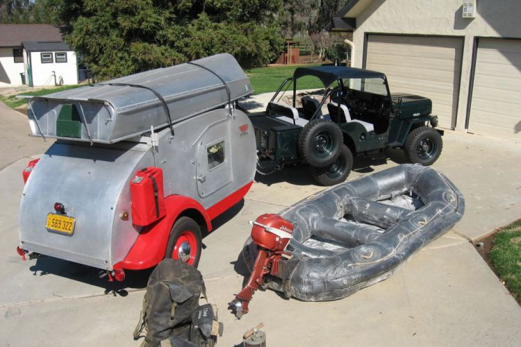 1953 Willys CJ-3B offroad 4x4 custom truck jeep retro camper motorhome wallpaper