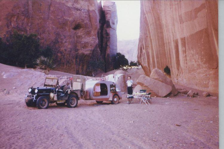 1953 Willys CJ-3B offroad 4x4 custom truck jeep retro camper motorhome wallpaper