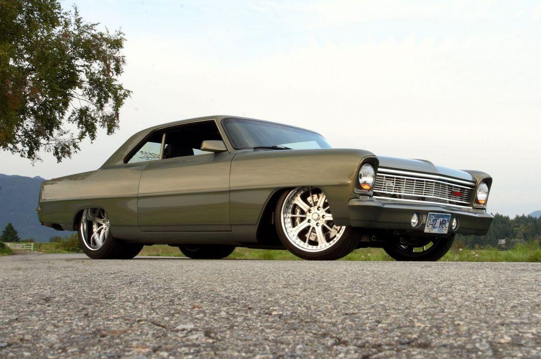 1966 Chevrolet Nova hot rod rods custom muscle classic wallpaper