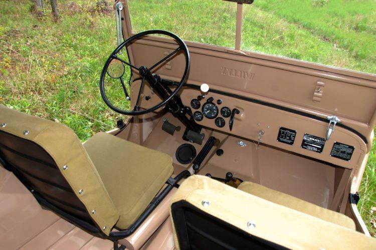 1945 Jeep CJ2A offroad 4x4 custom truck suv military retro wallpaper