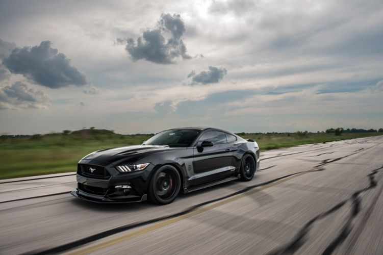 2016 Hennessey Ford Mustang HPE800 25th Anniversary Edition cars black modified wallpaper