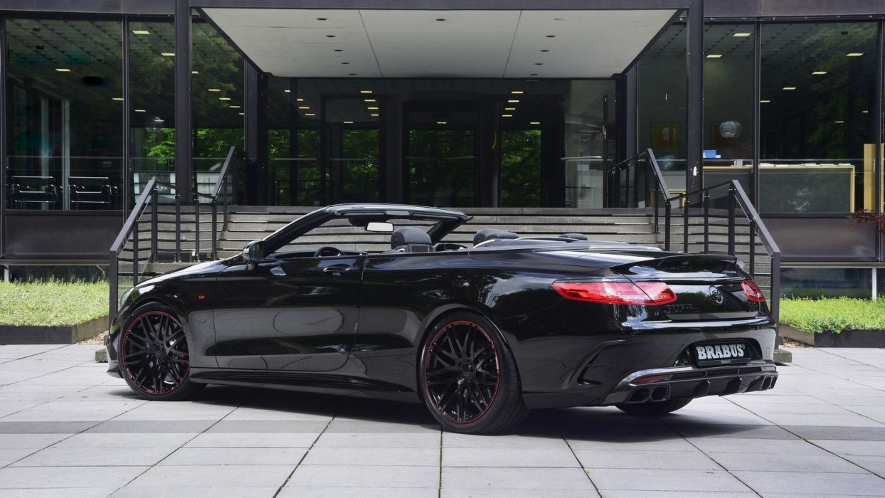 2016 Brabus S850 6 0 Biturbo Cabriolet Cars Mercedes Black Modified Wallpaper