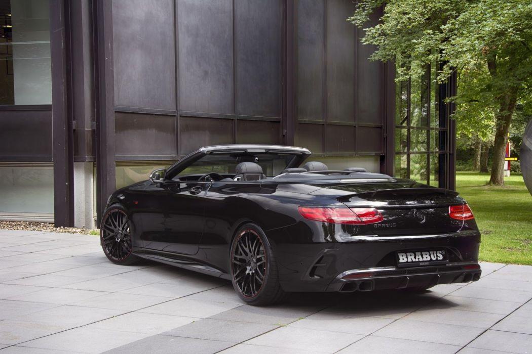 2016 Brabus S850 6 0 Biturbo Cabriolet cars mercedes black modified wallpaper