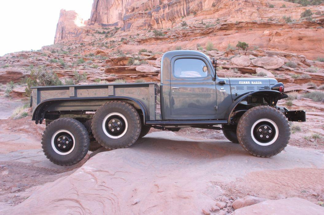 1942 Dodge Power Wagon 6x6 Moab offroad 4x4 custom truck mopar pickup retro wallpaper